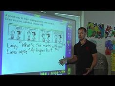 Using a familiar comic to model written dialogue and practice how to correctly use quotation marks fosters a motivation for literacy and builds essential skills involved in the mechanics of writing. See full lesson plans and additional videos at www.LitDiet.org
