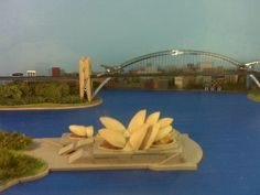 Pistachio Sydney: Sydney harbour and opera house made of pistachios and paper clips. by Flickr user TPapi