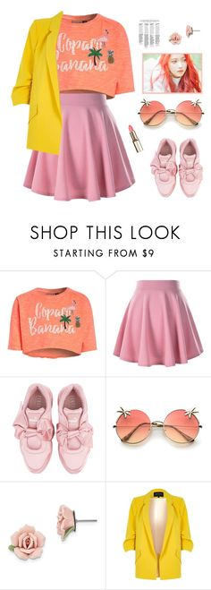 """Russian Roulette"" by lisannevicious ❤ liked on Polyvore featuring Puma, 1928 and River Island"
