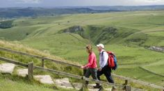 Walking up the steps at Mam Tor© Leo Mason - Nr Castleton - see this site 3 mile walk