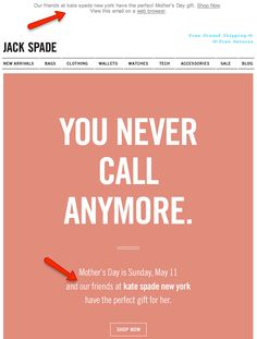 Jack Spade and Kate Spade New York for Mother's Day Email Creative Email Template Design, Email Newsletter Design, Email Templates, Magazine Design, Graphic Design Magazine, Jack Spade, Engagement Emails, Design Bauhaus, Email Design Inspiration