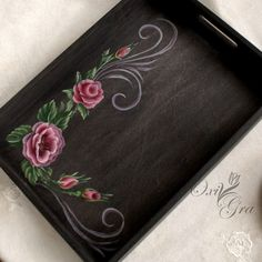 1 million+ Stunning Free Images to Use Anywhere Painted Wooden Boxes, Painted Trays, Wooden Art, Hand Painted, Resin Crafts, Wood Crafts, Wooden Painting, Iris Painting, Decoupage Wood