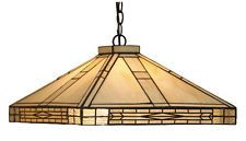 TYFANNY CEILING LIGHT LAMPSHADE PENDANT OPHELIA  WITH BLACK ART DECO  MOTIFS