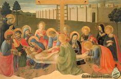 FRA ANGELICO. Lamento por Cristo muerto. 1436. Temple sobre tabla.