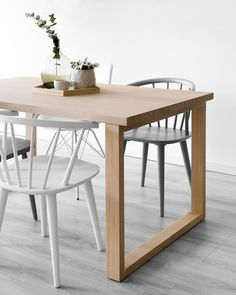 Mesa de comedor Kabe - Kenay Home Dining Room, Dining Table, New Homes, Furniture, Home Decor, Natural Wood, Houses, Kitchens, Home