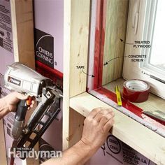 Framing around basement window - use treated wood and ensure enough space for emergency removal of window as egress
