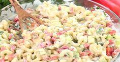 C'est impossible de dire non à cette salade de macaroni! Saura-t-elle vous charmer? Pasta Recipes, Salad Recipes, Cooking Recipes, Healthy Recipes, My Best Recipe, Recipe For 4, Cold Meals, Pasta Dishes, Food Network Recipes