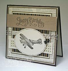 Masculine Airplane Card