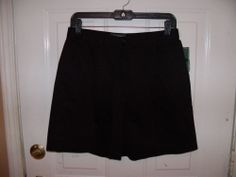 Lauren Ralph Lauren Black Flat Front Shorts Size 8P Women's NEW #LaurenRalphLauren #DressShorts