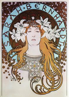 Alphonse Mucha; Sarah Bernhardt program covers Captured by K.G.23