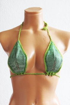 Hey, I found this really awesome Etsy listing at https://www.etsy.com/listing/221107435/hand-knit-bikini-top-women-knit-swimsuit