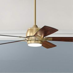 Gold Ceiling Fan, Ceiling Decor, Led Ceiling, House Ceiling, Ceiling Design, Ceiling Fan Makeover, Modern Fan, Living Room Lighting, Frosted Glass