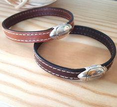 Fête des pères - Bracelet cuir homme fermoir magnétique