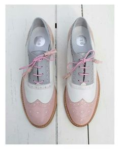 ABO brogues by Iva Ljubinkovic #abo #brogues #oxfords #shoes #pastel