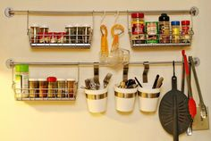 Amazon.com - Ikea Steel Wire Basket Spice Rack Hang or Free Standing Kitchen Storage Holder Bygel - Cabinet Door Rack Basket