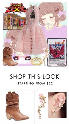 """Yu-Gi-Oh! Zexal: Yui Kuran"" by grandmasfood ❤ liked on Polyvore featuring Aventura, Alexander McQueen, Wet Seal and Kobelli"