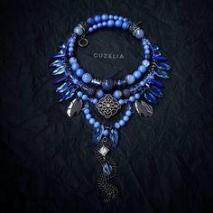 826 вподобань, 20 коментарів – УКРАШЕНИЯ ▫️GUZELIA▫️ (@guzelia) в Instagram: «Ну ок. Серьгами вас уже не удивить 🤭 Пусть будет ещё одно колье 🙌😊😇 На этот раз цвета васильков или…» Ethnic Jewelry, Beaded Jewelry, Handmade Jewelry, Beaded Necklace, Bohemian Accessories, Blue Tones, Turquoise Jewelry, Making Ideas, Chokers