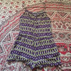 Tribal Print Cotton Romper Playsuit / medium excellent condition // size medium Forever 21 Pants Jumpsuits & Rompers
