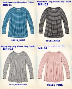 Must-Have Long Sleeve Easy T-Shirt R$23 Hollister, Must Haves, Easy, Turtle Neck, Long Sleeve, Sleeves, Sweaters, Pink, T Shirt