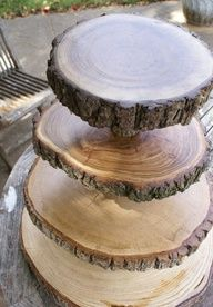 Etagère van houtschijven