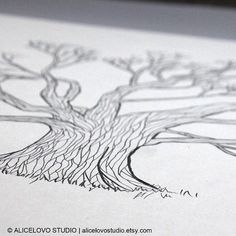 Guest Book Tree - Guest Book Ideas for Wedding - Wedding Guest Book - Custom Hand-Drawn Guestbook, Thumbprint Guest Book