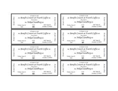 raffle ticket template printable templates pinte
