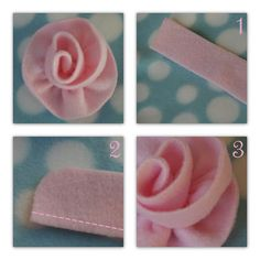 Fleece flowers - for baby girl hats -- how about on a swing coat or headband or down a pants leg seam or....?