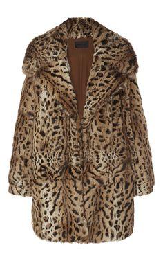 Printed Rabbit Fur Coat by CUSHNIE ET OCHS for Preorder on Moda Operandi