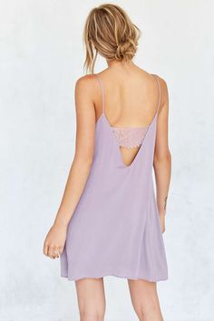 Kimchi Blue Lace Bandeau Back Mini Slip Dress - Urban Outfitters