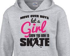 Let a GIRL Show You How to Skate Hoodie Girls Hockey Girl Pride Girl Power Loves Hockey Christmas Gift Trendy Hoodie BD-675H