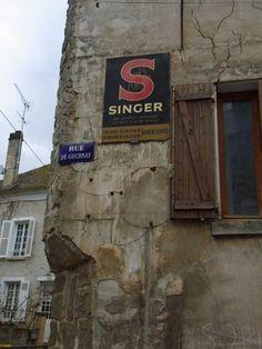 old #SINGER sewing machine #Advertising #Sign