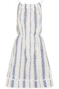 embroidered printed dress / zimmermann