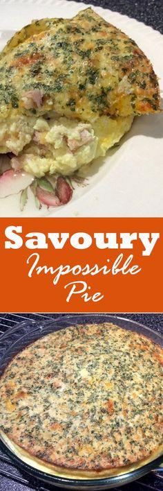 Savoury Impossible Pie! Great for the kids and easy to make. Add #bacon for more flavor.