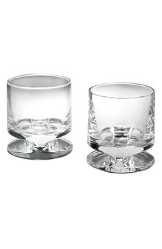 Nambé 'Groove' Full-Lead Crystal Double Old Fashioned Glasses (Set of 2) | Nordstrom