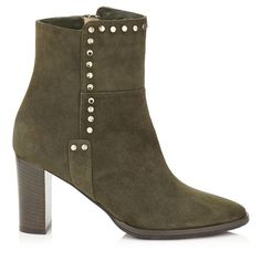 Jimmy Choo Harlow Boots as seen on Alessandra Ambrosio Suede Boots, Leather Shoes, Bootie Boots, Everyday Shoes, Latest Shoes, Jimmy Choo Shoes, Green Suede, Designer Boots, Zapatos