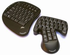 The Combimouse is a combination keyboard and mouse. The right part doubles as a keyboard and mouse. When you grip it, it becomes a mouse and specific keys switch to mouse click buttons. Combimouse has hit the crowd funding website Indiegogo to raise enough funds to make the jump from concept to production.