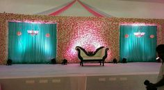 Trendy Ideas For Wedding Reception Backdrop Draping Wedding Hall Decorations, Marriage Decoration, Engagement Decorations, Backdrop Decorations, Backdrops, Flower Decorations, Reception Stage Decor, Wedding Reception Backdrop, Wedding Mandap