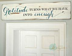 "Aimee Weaver designs ""Gratitude"" Wood Sign {customizable} - Aimee Weaver Designs"