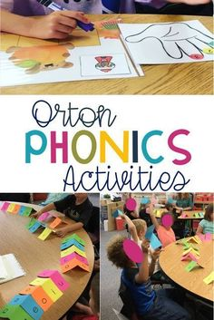 I recently posted some photos on Instagram of Orton Gillingham Phonics activities that I've been doing with my students. As a classroom teacher we've always used word families and reviewed vowel so