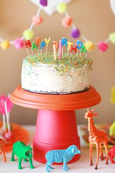 An adorable neon-hued birthday party.