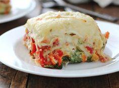 Veggie Alfredo lasagne recipe
