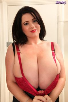 Red Satin Bra with British bombshell Rachel Aldana