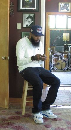 Celebrity Sneaker Watch  Stalley in Air Jordan  Military Blue  Early Rapper  Stalley has been consistent lately with his sneaker game and looks to have  no ... 19a8e15ba57e