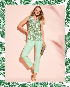 Let tropical prints transport you to paradise! | Talbots Summer Outfits