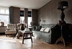 Hints of Grey+Raw Woods+Concrete+Linens at second shout out