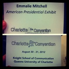 First day of @comm360! Currently listening to Dr. Kelo talk about political conventions. Can't wait for the week to come. #DNC #Charlotte #comm360