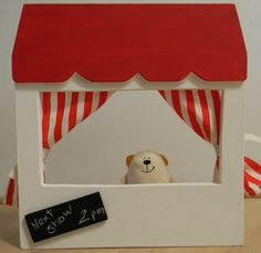 Finger puppet theater for the little ones.