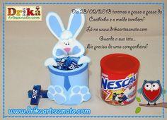 caja de conejito con lata de nestle!