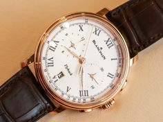 Blancpain Villeret Pulsometer Flyback Chronograph Watch Hands On hands on