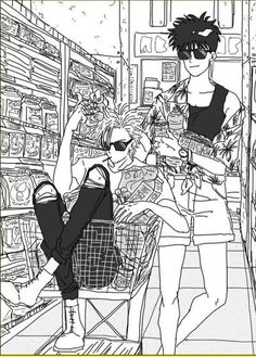 Ash and Eiji, literal fashion i c o n s Manga Anime, Anime Art, Anime Boys, Vocaloid, Manga Pages, Animes Wallpapers, Manhwa, Anime Characters, Character Design